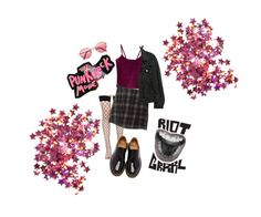 """""""Punk-rockish"""" by space-witch on Polyvore featuring moda, WithChic, Leg Avenue, Brandy Melville, H&M, American Apparel i Dr. Martens"""