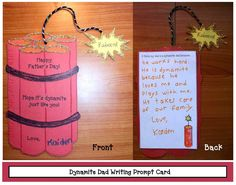 """Classroom Freebies: Dynamite Father's Day Writing Prompt """"Craftivity"""""""