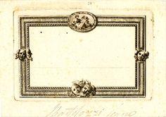 Ticket for a masquerade ball, by Bartolozzi, 1794