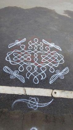 Rangoli Designs Flower, Rangoli Border Designs, Rangoli Patterns, Rangoli Ideas, Rangoli Designs With Dots, Rangoli Designs Images, Rangoli Designs Diwali, Kolam Rangoli, Flower Rangoli