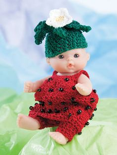 """http://www.maggiescrochet.com/products/lots-to-love-cute-as-pie-5-doll-clothes Picture of Lots to Love® Cute as Pie 5"""" Doll Clothes"""