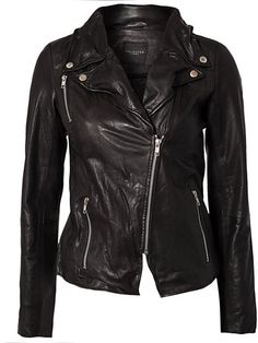 Foma Leather Jacket - Selected Femme - Musta - Takit - Vaatteet - Nainen - Nelly.com