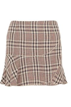 ETOILE ISABEL MARANT Jevil plaid linen mini skirt. #etoileisabelmarant #cloth #skirts