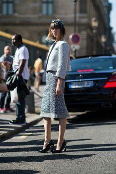classic chic. Anya in Dior in Paris. #AnyaZiourova