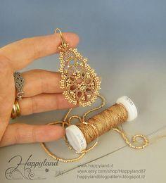 2 grams earrings kit and tutorials for 3 different pairs Etsy Tatting Earrings, Tatting Jewelry, Lace Earrings, Tatting Lace, Beaded Jewelry, Lace Bracelet, Diy Jewelry, Hoop Earrings, Jewellery
