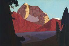 Largo (Sierra Nevada)  1925 Conrad Buff Born: Speicher, Switzerland 1886 Died: Laguna Niguel, California 1975 oil on canvas 44 1/4 x 66 in. (112.4 x 167.7 cm.) Smithsonian American Art Museum