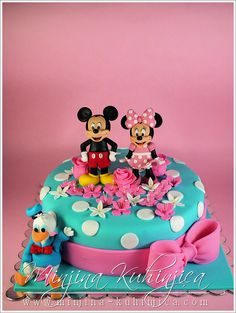 Mickey and Minnie cake - Mickey, Minnie and  Donald duck