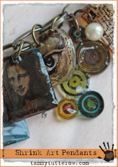 Tammy Tutterow: Curiosity Shrink Art UTEE Pendants