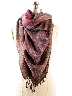 ef36e26082a13 Amrita Scarf, Pashmina Indian Paisley Traditional Jacquard Shawl (Purple)  at Amazon Women's Clothing store: