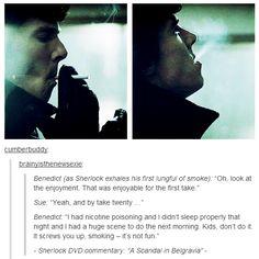 Ben advising the kids against smoking. Gah!!!! I love him, more!!!