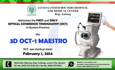 NO NEED TO GO TO MANILA! Optical Coherence Tomography (OCT) is now available in LUCENA!