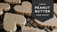 Perfect Peanut Butter Sugar Cookies ~ 6 Cakes & More, LLC These Perfect Peanut Butter Sugar Cookies are simply amazing! This is another no chill, no spread recipe so they are super simple and taste like the good old fashioned peanut butter cookies. Cream Cheese Sugar Cookies, Butter Sugar Cookies, Cinnamon Sugar Cookies, Sugar Cookies Recipe, Peanut Butter Cutout Cookies Recipe, Butter Cakes, Cookie Flavors, Cookie Recipes, Cookie Ideas