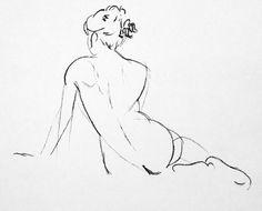 Original Nude Drawin