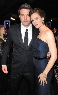 American actor, Ben Affleck and wife Jennifer Garner...