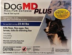 Dog MD Plus 2344 Lb Dog Flea  Tick Treatment 3 Count *** More info could be found at the image url.