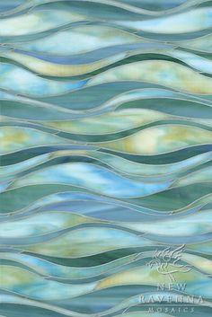 Oasis water jet jewel glass mosaic | New Ravenna Mosaics. Kitchen backsplash?