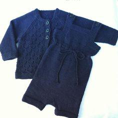 Babysæt str 0-3 mdr. #knit #babystrik#babystrikk #hjemmestrik #handmade #knittedbabyclothes #bomuld #merino