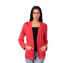 1b6fb4fb93 Buy Teemoods Stylish Red With Pocket Shrug online for girls in India at  reasonable price