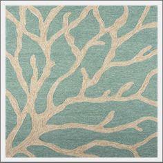 coastal living coral rug