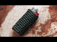 How To Do A Paracord Lighter Wrap - YouTube