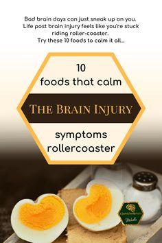 Bad brain days can just sneak up on you. Life post brain injury feels like you're stuck riding roller-coaster. Try these 10 foods to calm it all Brain Injury Recovery, Brain Injury Awareness, Recovery Food, Meningioma Tumor, Tramatic Brain Injury, Lesión Cerebral, Brain Boosting Foods, Herbs For Health, Brain Tumor