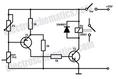 temperature relay circuit schematic