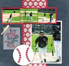 Baseball scrapbook pg idea