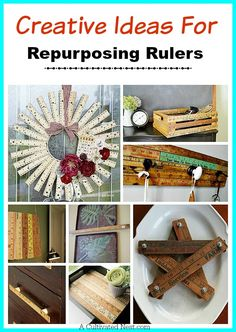 Who knew you could make so many cute things with rulers! Creative ideas for repurposing rulers