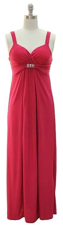 FUCHSIA PINK SWEETHEART BANDEAU MAXI SPANDEX SUNDRESS,BEACH, CRUISE-S,M,L,XL Only $19.99 with FREE shipping!!