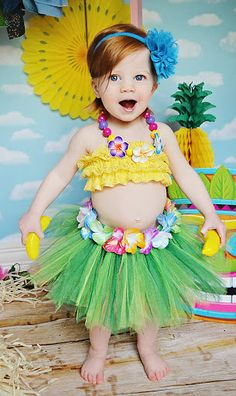 Hawaiian+TUTU+ONLY+luau+party+photo+prop+baby+by+BowPeepsAndMore,+$40.00