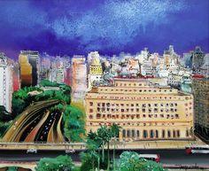 Anhangabaú, 2007 Yugo Mabe (Brasil, 1955) acrílica sobre tela, 60 x 73 cm