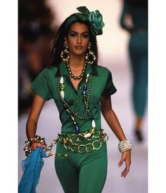 Yasmeen Ghauri au défilé Chanel en 1991