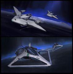 ArtStation - Spaceship Sketches, Steve Wang