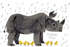 christian robinson - thank you rhino - card design