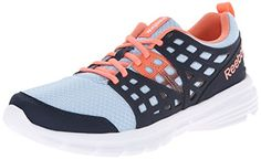 Reebok Womens Speed Rise Running Shoe Denim GlowFaux IndigoCoralWhite 9 M US >>> You can find more details by visiting the image link.