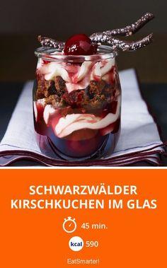 Schwarzwälder Kirschkuchen im Glas