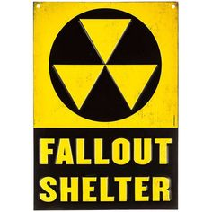 Fallout Shelter Embossed Tin Sign