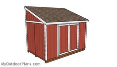 Lean to Shed Plain