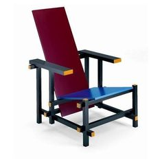 Gerrit Rietveld Red and Blue Armchair