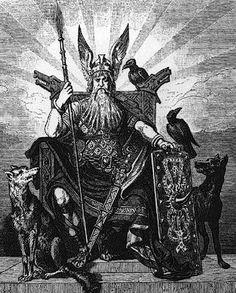 Odin w/ Huginn and Muninn