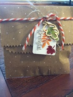 This gift bag uses the Fall Fest Stamp set and dies. http://stampinsteph.typepad.com/