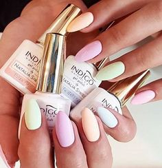 Pastels Sweets by Emilia Tokarz, Indigo Young Team Kraków #nails #nail #indigo #pastel #new #wow #natalia #siwiec