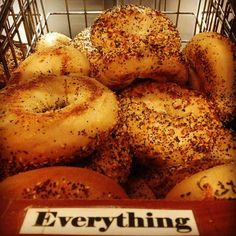 My favorite: The Everything Bagel
