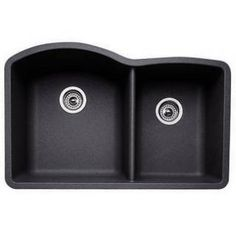 Blanco 440179 Diamond Anthracite 1-3/4 Bowl Silgranit Undermount Kitchen Sink