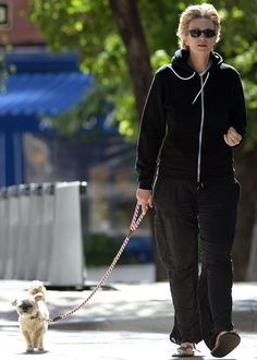 """Little Francis has the same """"Devil May Care"""" 'tude as his owner, Jane Lynch #celebrities #dogs http://www.petrashop.com/"""
