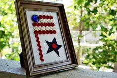 DIY Cute As a Button Flag!