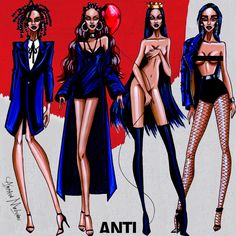 Rihanna - Anti Collection - by Armand Mehidri Who is your favorite look?