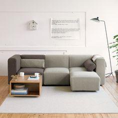 部屋の自由度をUPするユニットソファ。「無印」と「IKEA」を比べてみ ... 3シーターでレイアウト