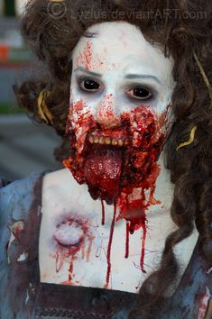 [  http://www.pinterest.com/toddrsmith/boo-who-adult-halloween-ideas/  ]  - yuck! - special fx zombie by lyzius