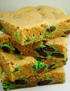 St. Patrick's Day Blondies, was looking for this
